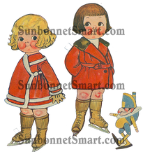 Dolly Dingle vintage ice skating winter printable paper dolls