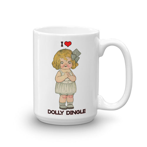 Dolly Dingle Vintage Paper Doll Coffee Mug