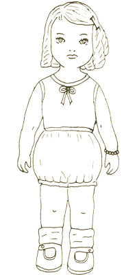 Rosarie at Three Vintage Printable Paper Doll