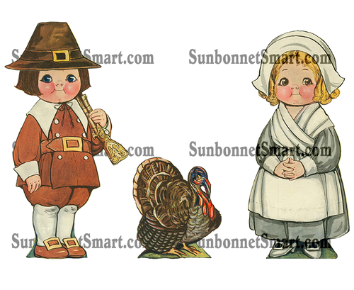 Dolly Dingle Thanksgiving Printable Paper Dolls