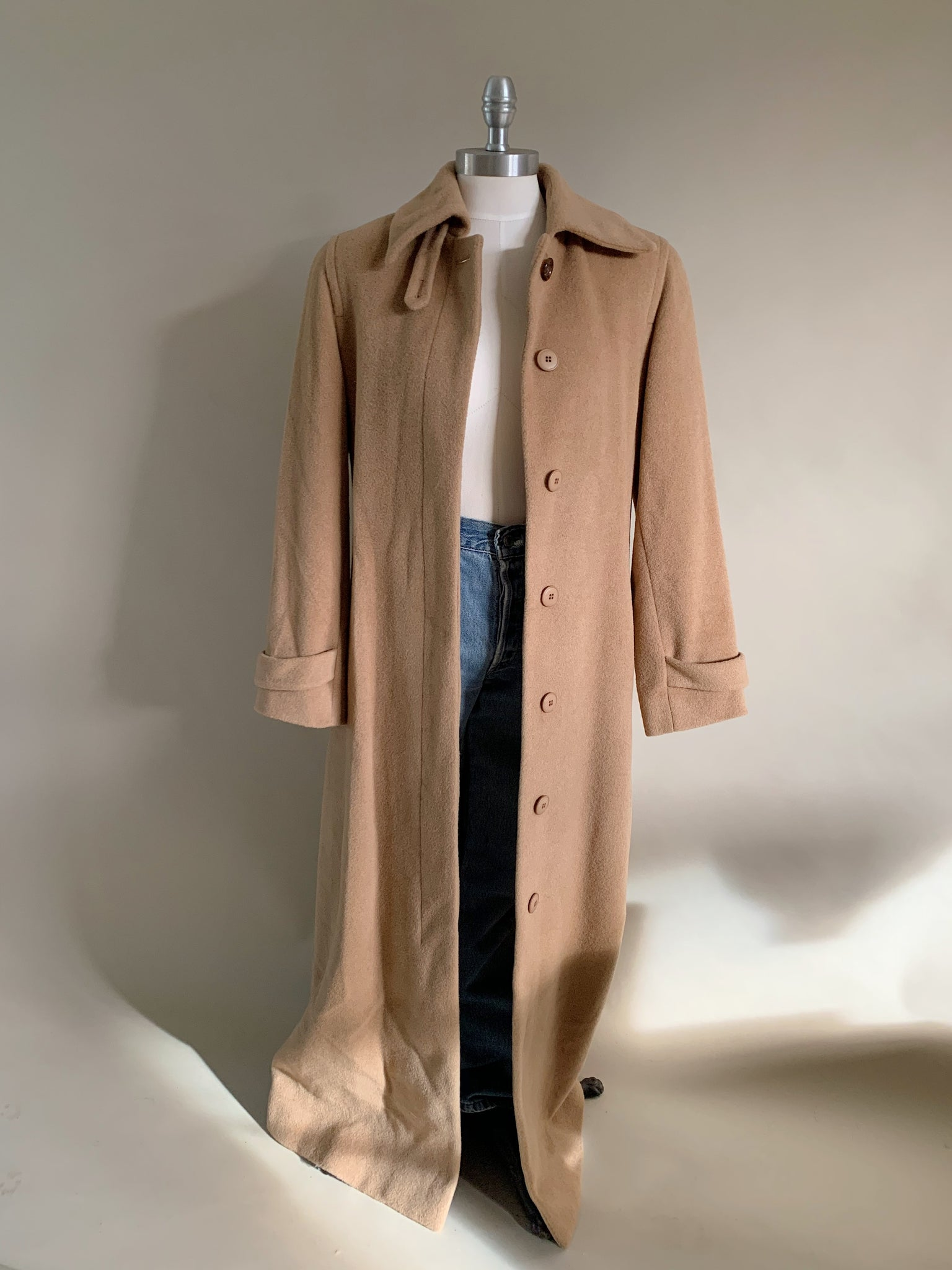 camel wool trench