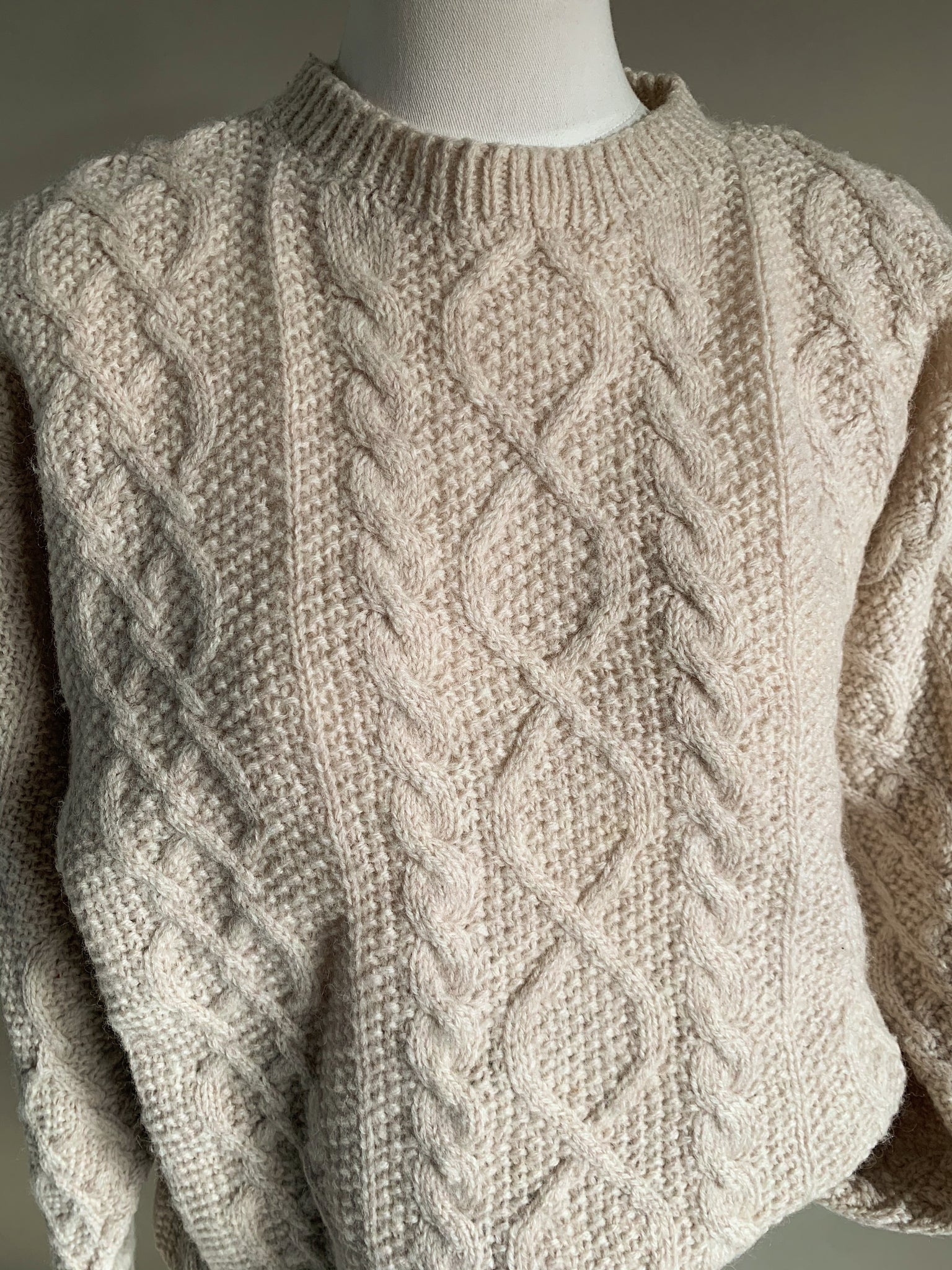 wool fisherman pullover sweater