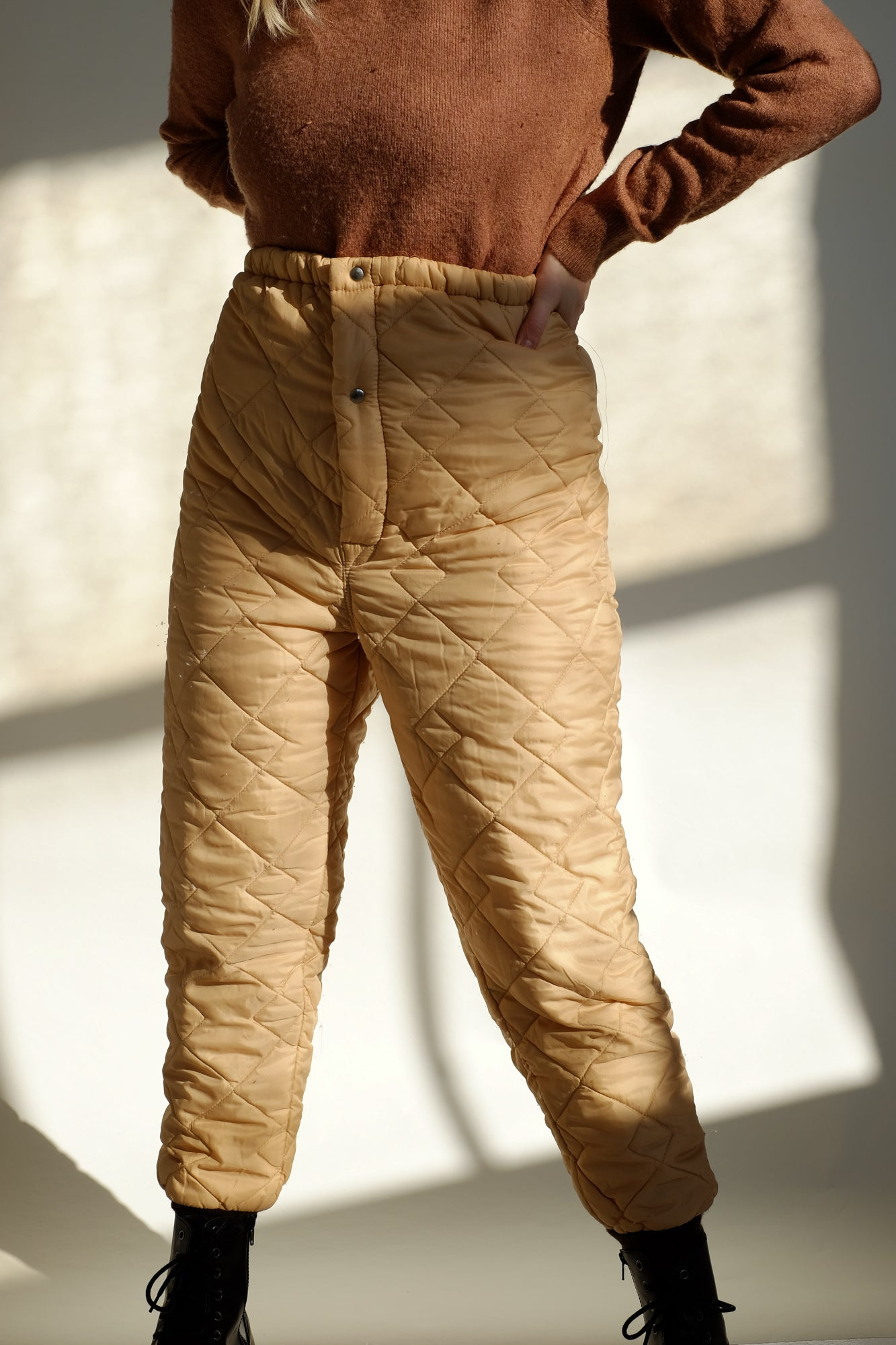 quilted pants