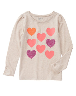 Crazy8 Girls Shimmer Heart Top (10-12yrs)