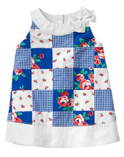 Gymboree - Blue Patchwork Dress