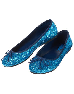 CRAZY8 BLUE GLITTER FLATS us13(31),us1(32)
