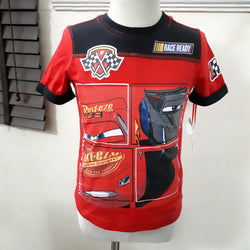 Disney License Cars Boys Top (2yrs,3yrs,5yrs)
