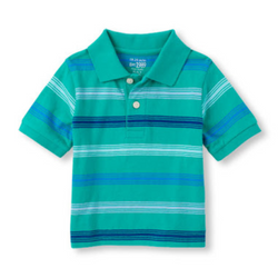 Children's Place Striped Polo Top (2yrs,3yrs)