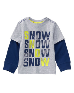 1.Crazy8 Snow Double Sleeved Top (2yrs)