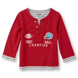 Children's Place Red Henley Top (3yrs,)