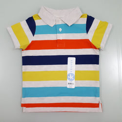 J.khaki Colourful Striped Polo Top (2yrs,4yrs)
