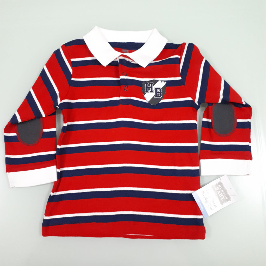 c43b18cac 1.Hudson Baby Boy Red Striped Polo Top (24mn) – Bumble Bee Stores