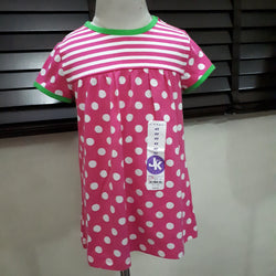 J.khaki Polka Dotted Girls Top (2yrs,4yrs)