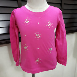 Toughskins Studded Pink Girls Top (2yrs)