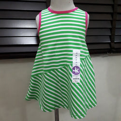 J.khaki Striped Green Girls Top (3yrs)