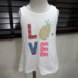 Toughskins Girl Embellished Top Pineapple (3yrs)