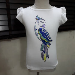 Gymboree White Parrot Girls Top (5yrs)