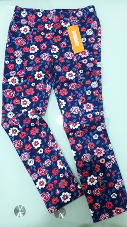 Girls Flowery Print Gymboree Woven Jeggings (8yrs,10yrs)
