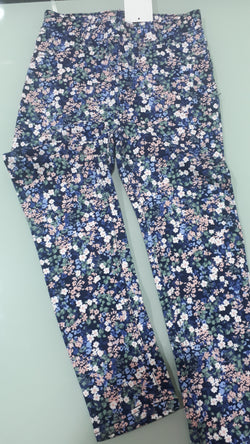 H and M Flowery Print Woven Jeggings (6-7yrs,7-8yrs)