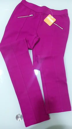 Girls Fuscia Pink Woven Jeggings (12yrs)