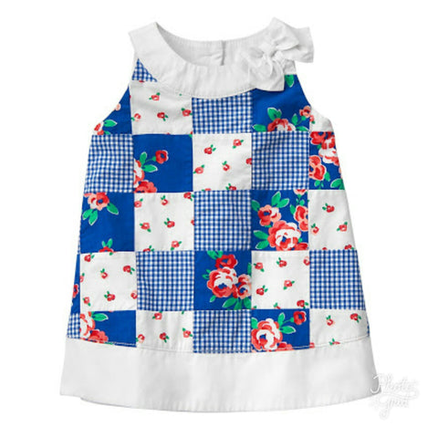 GYMBOREE PATCHWORK DRESS(18-24mn)