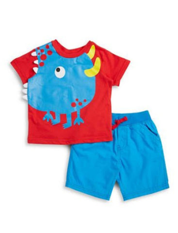 1.BOYS ROCK 2pc SHORTS SET (12mn)
