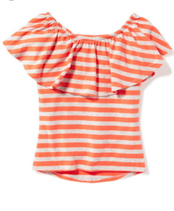 Old Navy Off Shoulder Flutter Sleeve Top (6-7yrs)