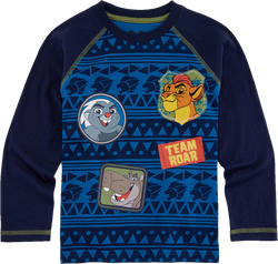 1.Okie Dokie Lion Guard Long-Sleeve Raglan Tee - Toddler Boys (2yrs)
