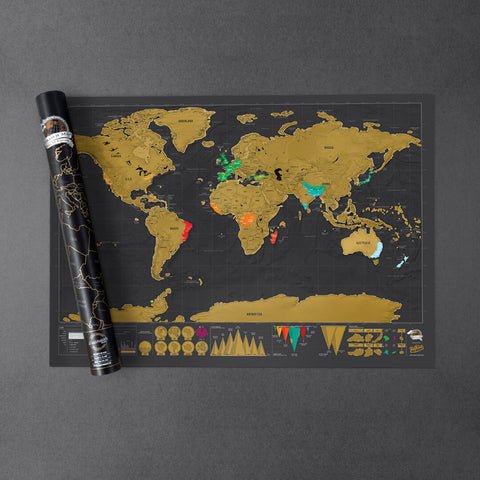 scratch-off travel world map - dazzle now