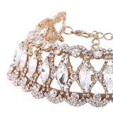 Crystal Rhinestone Cut-Out Statement Choker