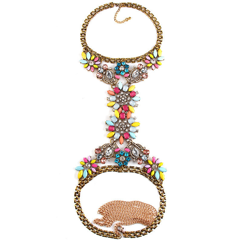 Multicolored Body Chain