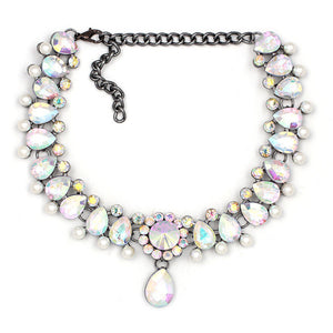Crystal Drop Pendant Choker