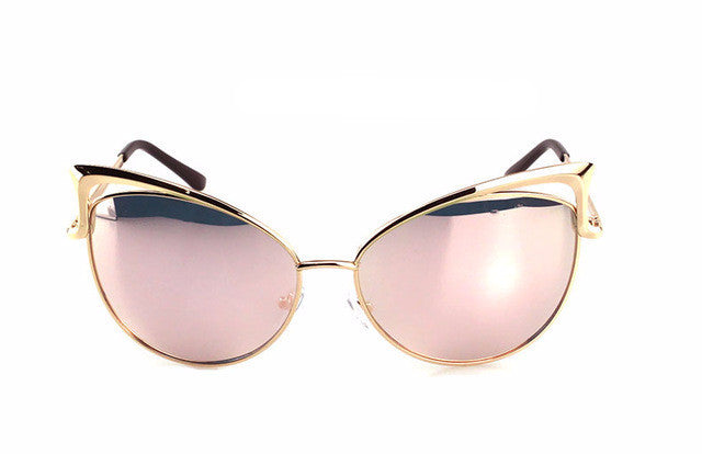 Cut Out Cat Eye Frame Sunglasses