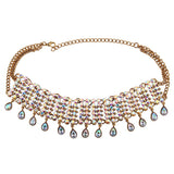 Boho Crystal-Drop Statement Choker