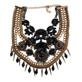 Grand rhinestoned necklace