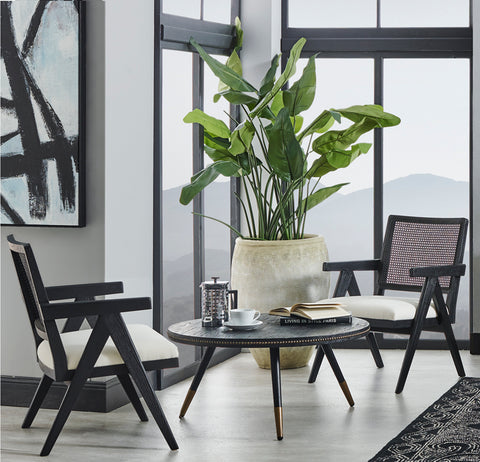 The Imperial Rattan Arm Chair - Black