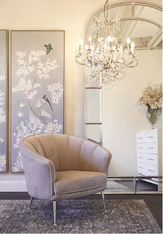 Silver Floor Mirror | Luxury Furniture
