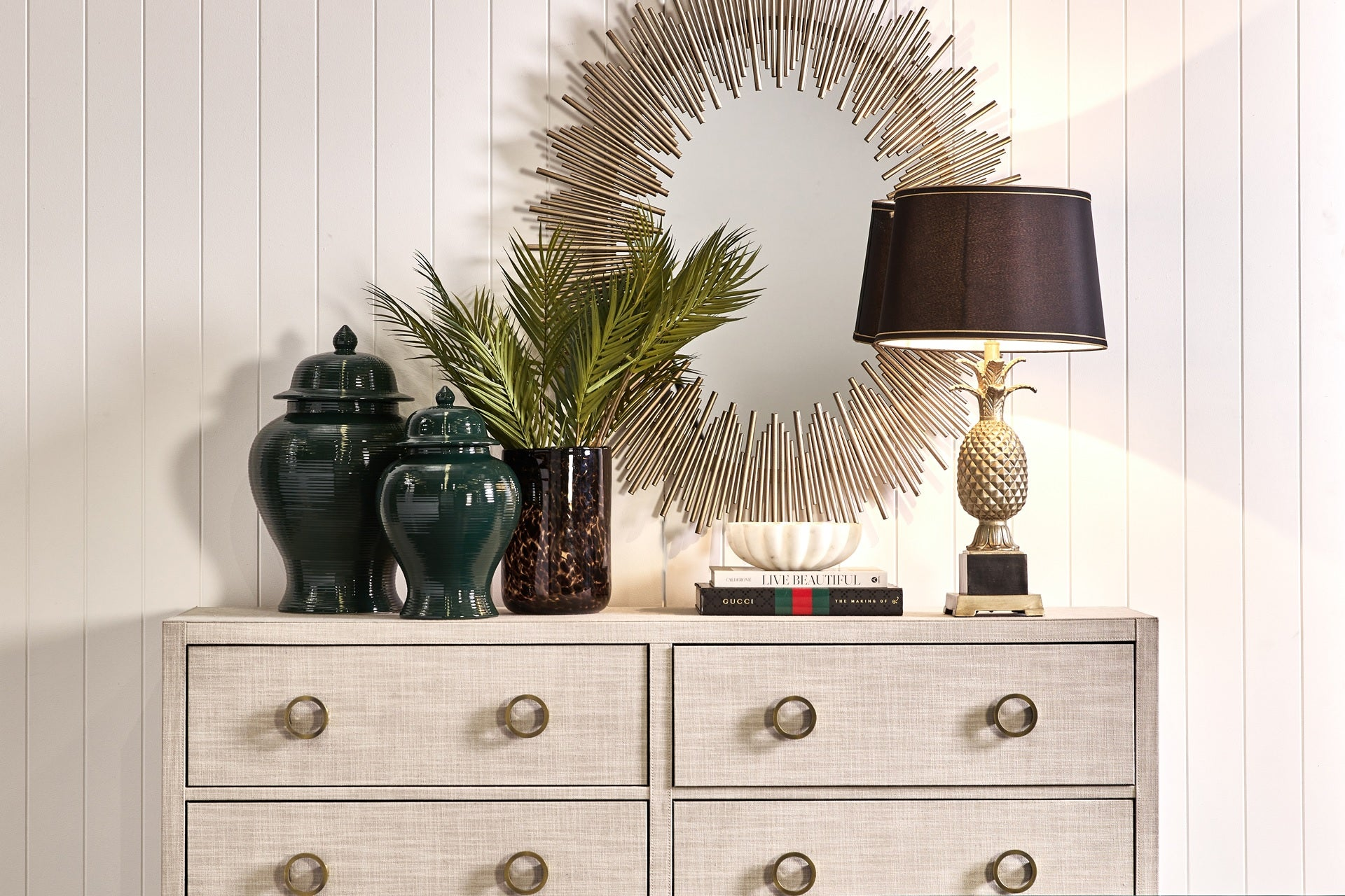 Franklin Gold Oval Wall Mirror