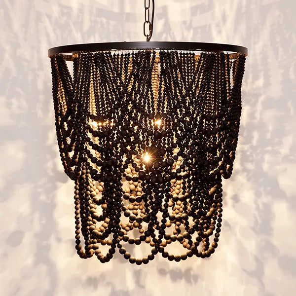 Bilgola Black Beaded Pendant