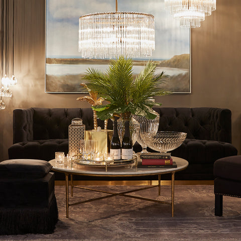 Heston Brass and Gold Coffee Table