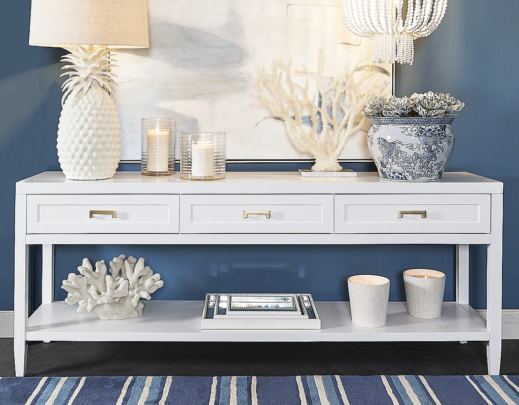 Hamptons Console Table | White Wooden Console Tables
