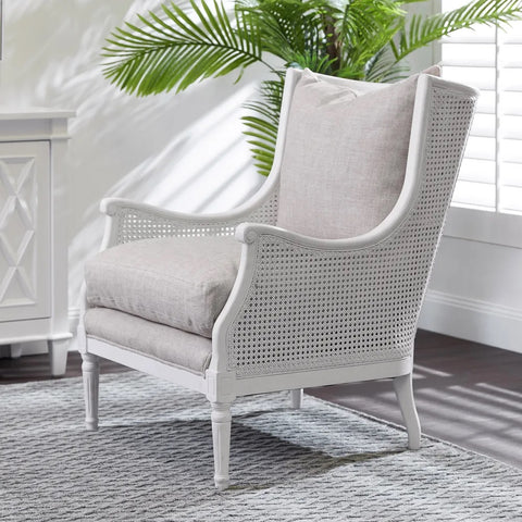 Havana Rattan Armchair White | Attica Luxury Furniture Sydney