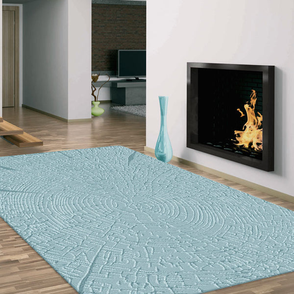 Light Blue Contemporary Rug
