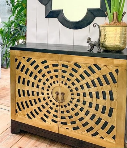 Moroccan Brass Sideboard