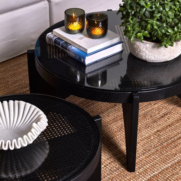 Oasis Black Round Coffee Table