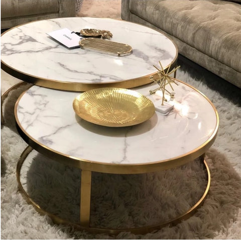 Splendour Gold Coffee Table Set of 2