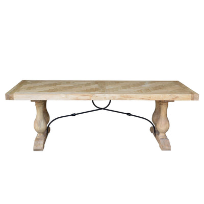 Boston Parquetry Top Rustic Dining Table - 2.4m