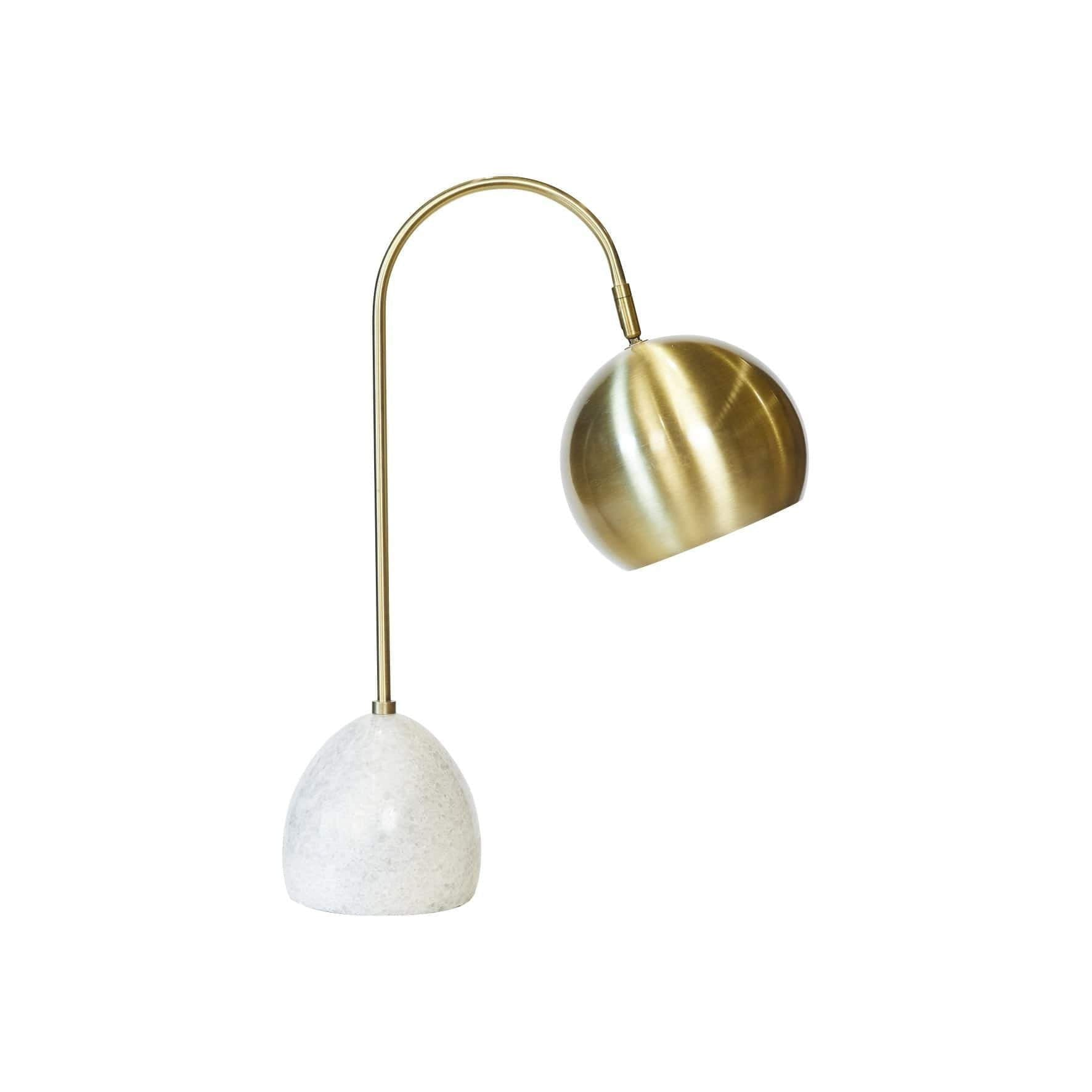 Swift Task Lamp - Marble & Gold