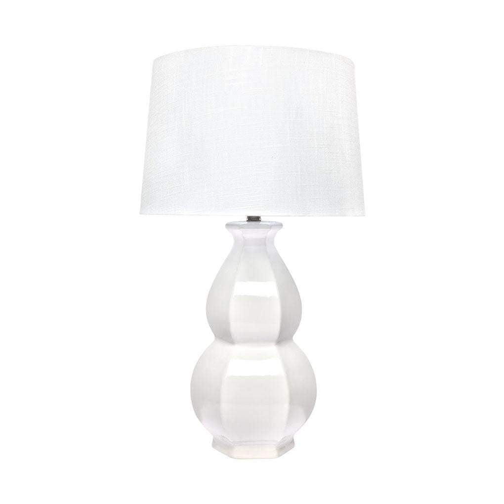 Erica Large Ceramic Table Lamp - White