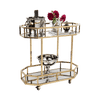 Gold Drinks Trolley with Alcohol | Home Bar